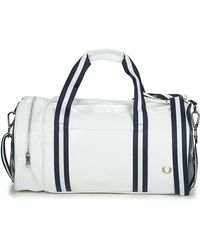 Fred Perry Borsa Da Sport Contrast Colour Barrel Bag - Bianco
