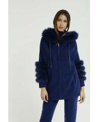 Max & Moi - Coat Nikita Blue Woman Autumn/winter Collection Women's Coat In Blue - Lyst