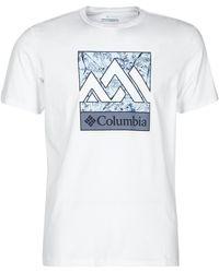 Columbia M RAPID RIDGE GRAPHIC TEE T-shirt - Blanc