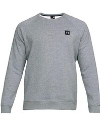 Under Armour Sweater Rival Fleece Crew 1320738-036 - Grijs