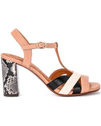 Beirun Pale Pink Leather Heeled Sandal Women's Sandals In Other -  Multicolour