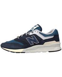 New Balance Lage Sneakers Cm997 Hgc - Blauw