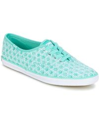 Keds Lage Sneakers Ch Eyelet - Blauw