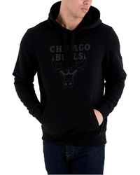 KTZ CHICAGO BULLS TEAM LOGO FELPA CON CAPPUCCIO NERA Sweat-shirt - Noir