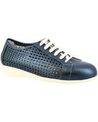 Leonardo Shoes Derbies 4723VEN PIUMA DENIM - Bleu