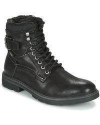 Tom Tailor Laarzen 85607-noir - Zwart