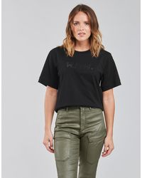 G-Star RAW BOXY FIT RAW EMBROIDERY TEE T-shirt - Noir