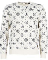 Scotch & Soda Sweater Crewneck Sweat With Logo All-over Print
