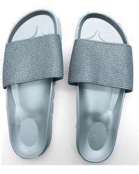 Kebello Mules brillantes Taille : F Silver 36 Claquettes - Métallisé