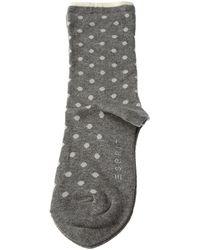 Esprit Chaussettes Niveau mollet - Coton - Melange Dot femmes Chaussettes en Gris