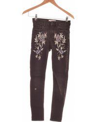 Mango Jean Slim Femme 32 Jeans - Noir