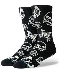 Stance Sokken Triple Skull - Zwart