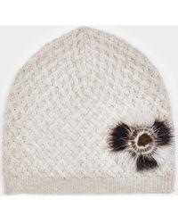 Max & Moi - Hat Hatmink Beige Woman Autumn/winter Collection Women's Beanie In Beige - Lyst