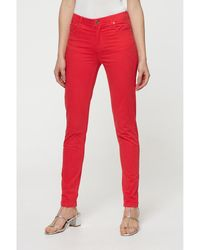 Best Mountain Pantalon Pantalon slim taille haute - Rouge
