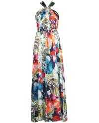 Marciano Lange Jurk Superbloom Gown - Blauw