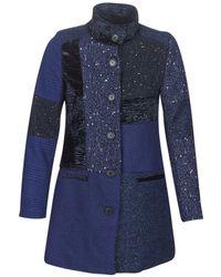 Desigual Mantel Cartter - Blauw
