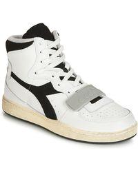 Diadora MI BASKET USED femmes Chaussures en blanc