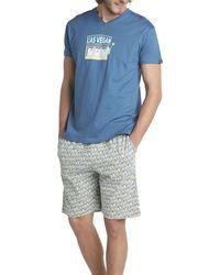 Arthur Pyjama court Pyjamas / Chemises de nuit - Bleu