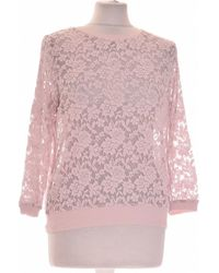 H&M Sweat Femme 38 - T2 - M Sweat-shirt - Rose