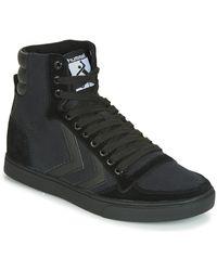 Hummel Hoge Sneakers Ten Star Tonal High - Zwart