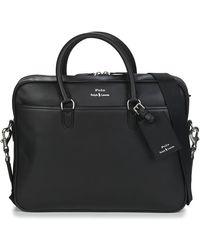Polo Ralph Lauren Aktetas Commuter-business Case-smooth Leather - Zwart