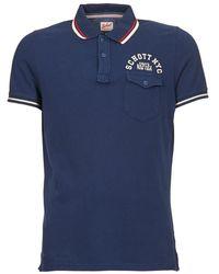 Schott Nyc - Justin Men's Polo Shirt In Blue - Lyst