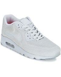 online retailer 33940 7c4d3 Nike - Air Max 90 Ultra Breathe Mens Shoes (trainers) In Grey - Lyst
