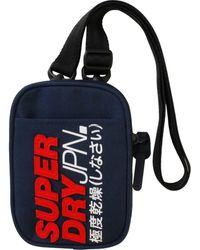 Superdry Montauk Cross Body Messenger Bag Pouch - Blue