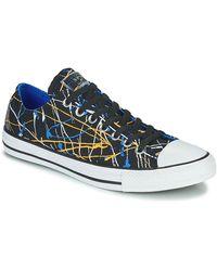 Converse CHUCK TAYLOR ALL STAR ARCHIVE PRINT - PAINT SPLATTER OX Chaussures - Noir
