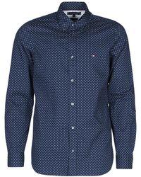 Tommy Hilfiger Overhemd Lange Mouw Slim Geo Print Shirt - Blauw