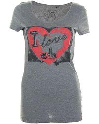 Esprit Top Manches Courtes 36 - T1 - S T-shirt - Gris