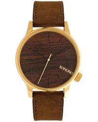 Komono Horloge Winston Gold Wood - Bruin