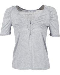 Morgan T-shirt Korte Mouw Doula - Grijs