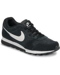 Nike Lage Sneakers Md Runner 2 Suede - Zwart