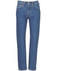 Levi's Straight Jeans Levis 501 Crop - Blauw