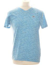 Hollister T-shirt Manches Courtes 42 - T4 - L/xl T-shirt - Bleu