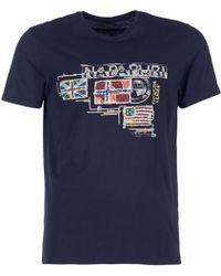 Napapijri - Vintage Men's T Shirt In Blue - Lyst
