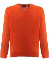 GANT V NECK SUPER FINE suéteres hombre naranja