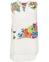 Rene' Derhy - Damoiselle Women's Vest Top In White - Lyst