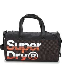 135951cabd Jack Spade Bristol Leather Barrel Duffel Bag in Black for Men - Lyst