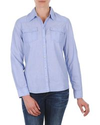 S.oliver Chemister Manches Lo Shirt - Blue