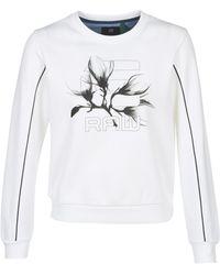 G-Star RAW GRAPHIC 21 XZULA R SW WMN LS Sweat-shirt - Blanc