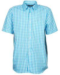 Pierre Cardin Overhemd Korte Mouw 539236202-140 - Blauw