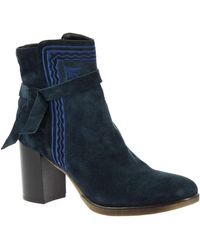Leonardo Shoes - T267 CROSTA BLU Bottines - Lyst