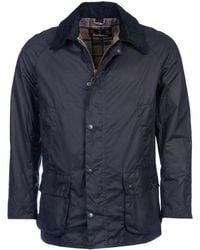 Barbour Parka Ashby Wax Jacket - Bleu