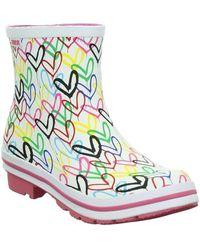Skechers Botas de agua Bobs Rain Check Raining Love - Blanco