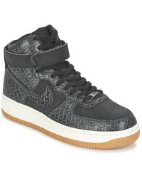 Nike Air Force 1 Hi Premium W Shoes (high-top Trainers) - Black