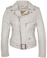 Schott Nyc PERFECTO FEMME Blanc LCW 8600 - Bianco