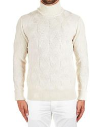 Paolo Pecora Pull MAILLE HOMME - Blanc