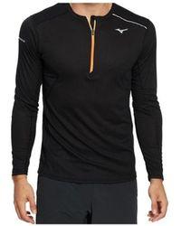 Mizuno Sweater Dry Aeroflow Ls Hz - Zwart
